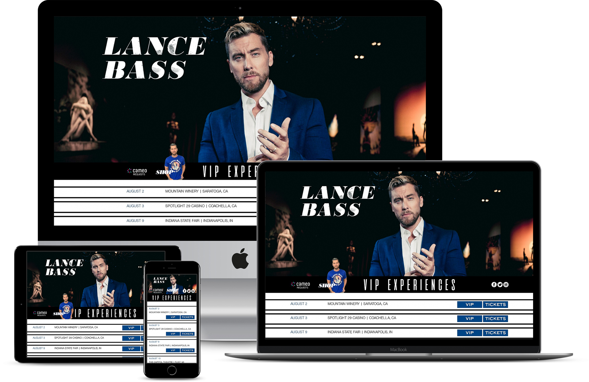Lance Bass Website Responsive