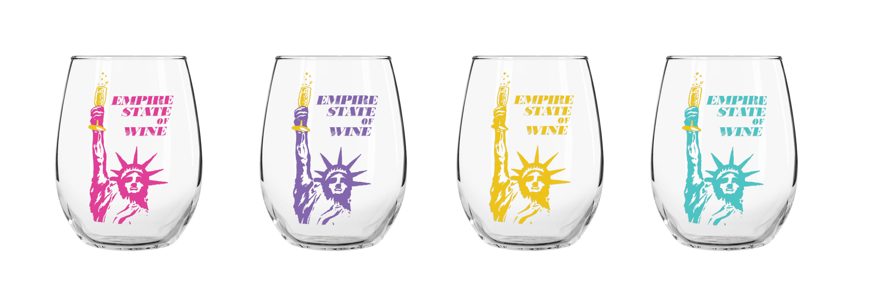 Empire State of Wine Glasses by Bionic Egg Design