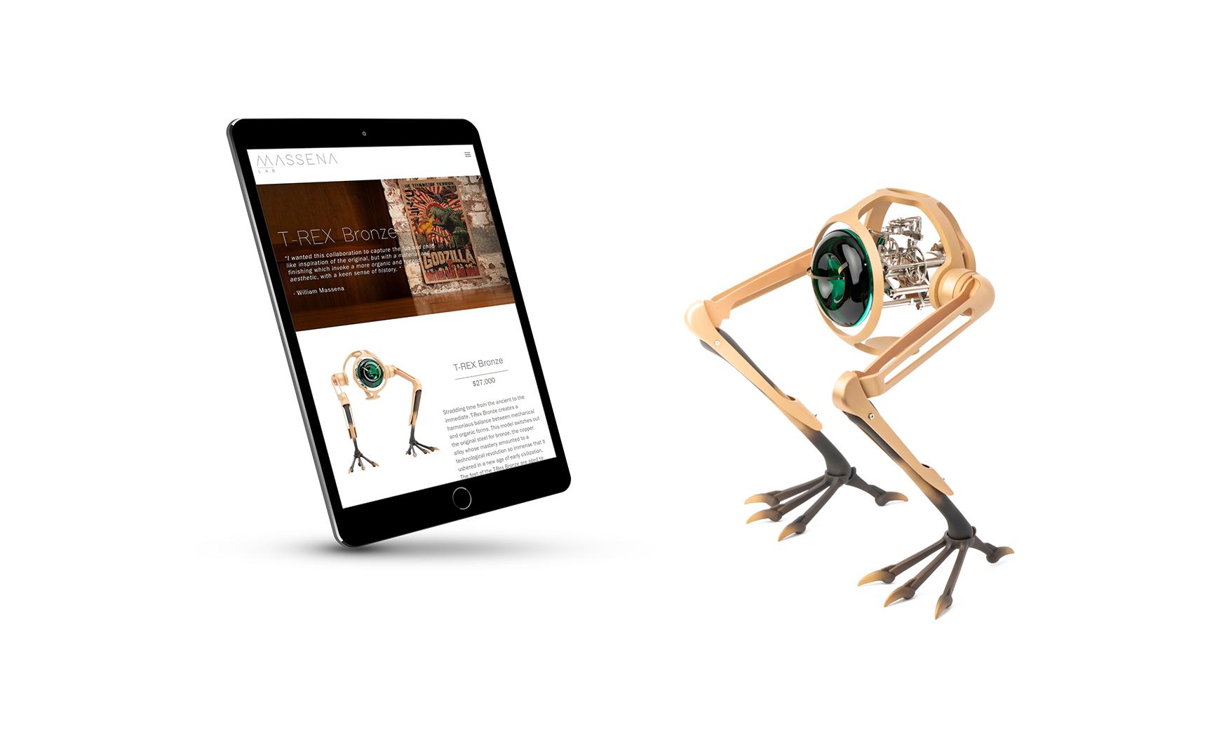 Massena LAB T-Rex Website iPad View