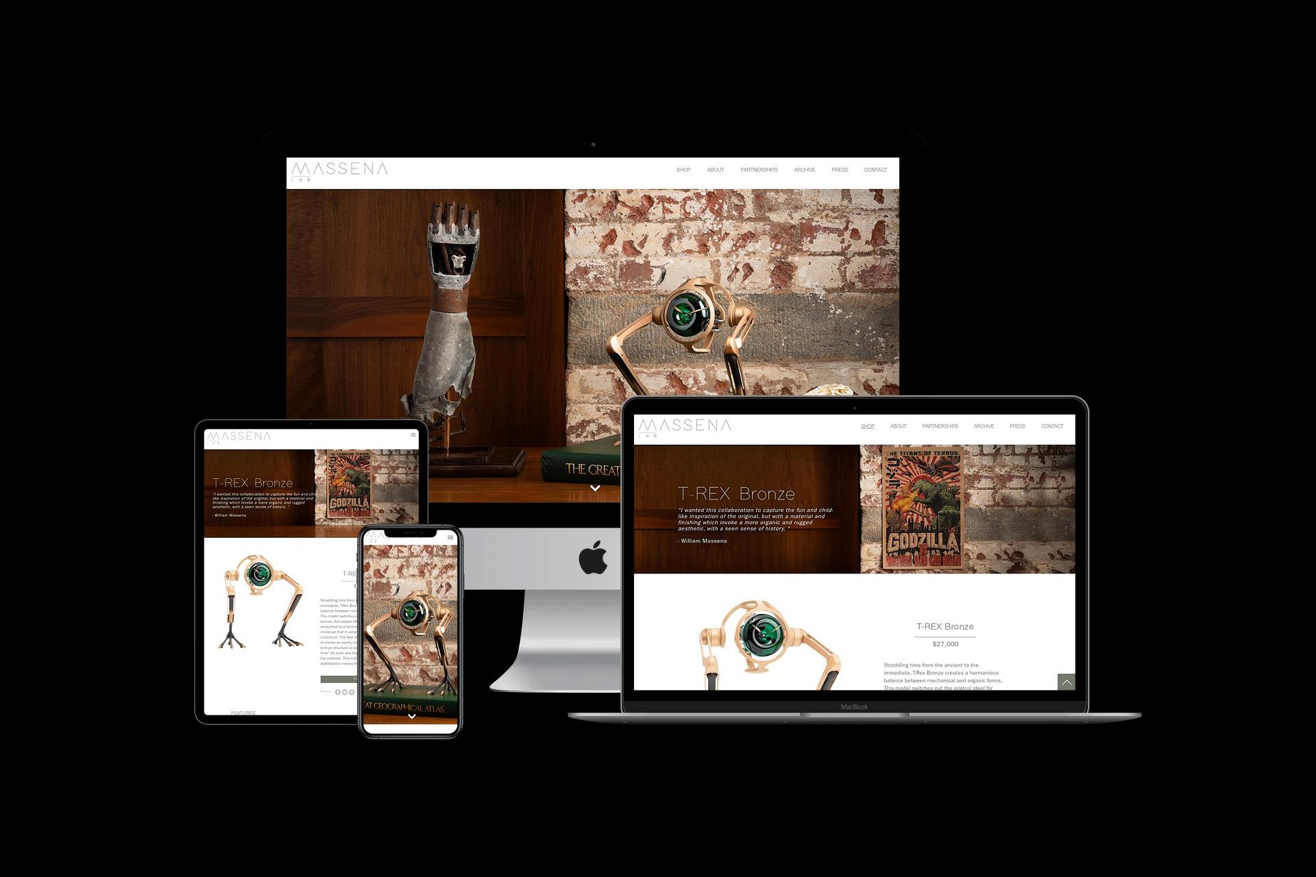 Massena LAB web designer