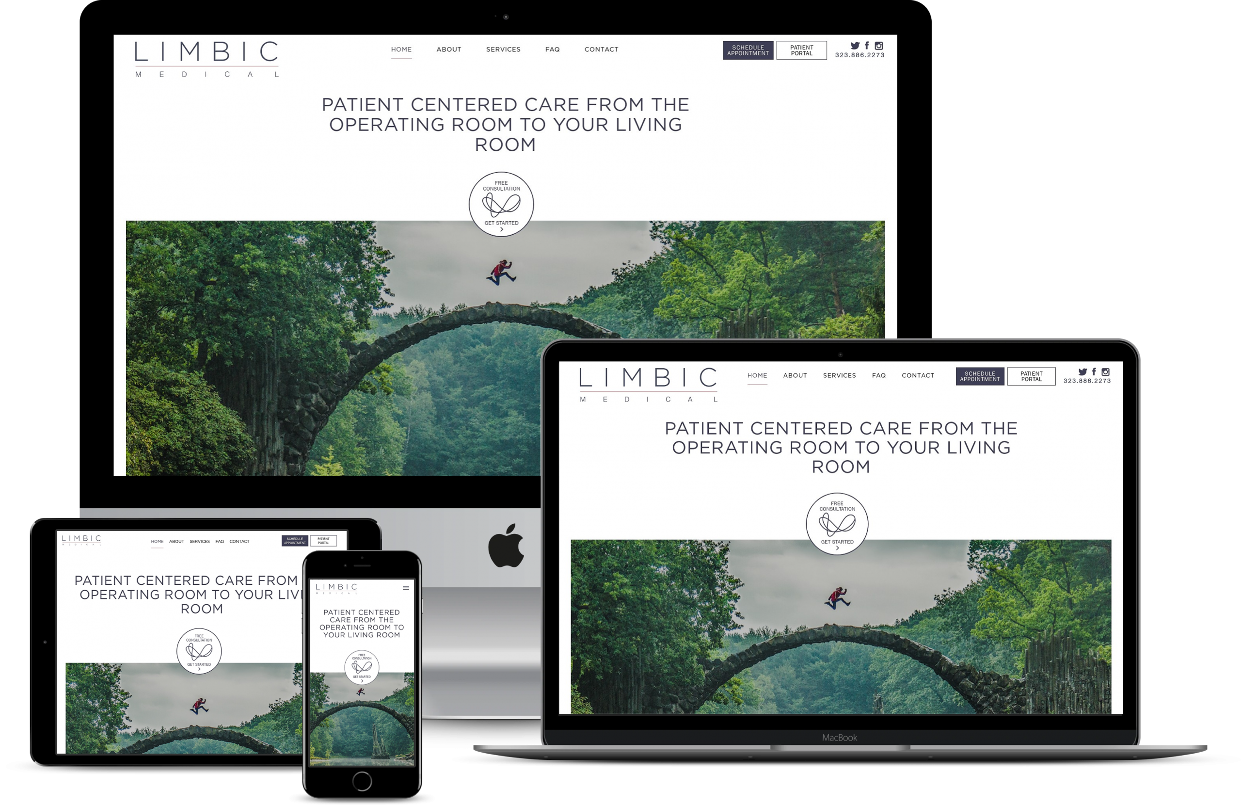 Limbic Medical Responsive Website Design by Bionic Egg Design 2020