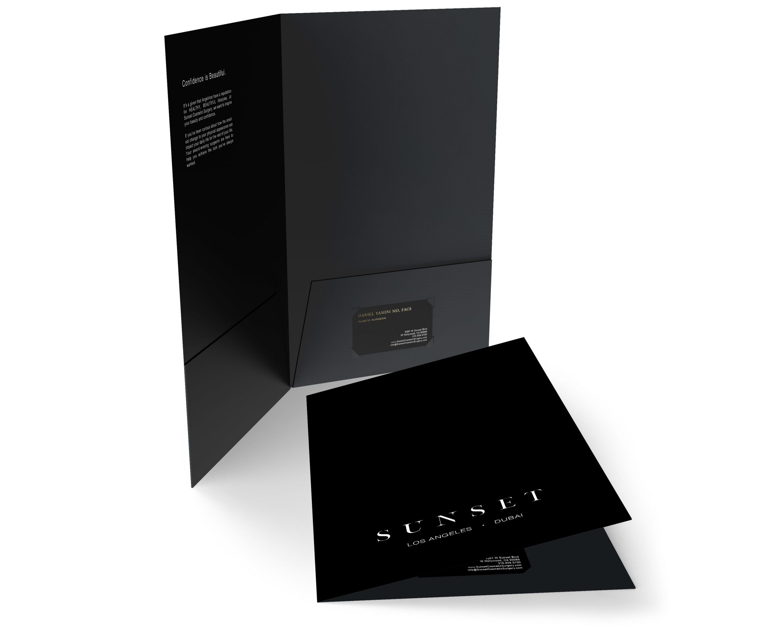 Sunset Cosmetic Surgery Branding Presentation Folder