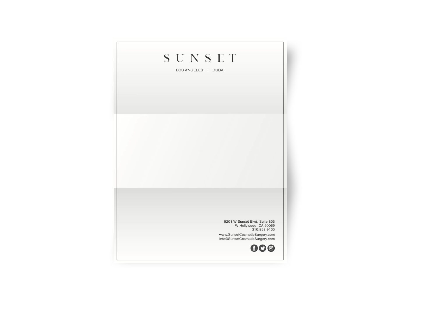 letterhead sunset cosmetic surgery