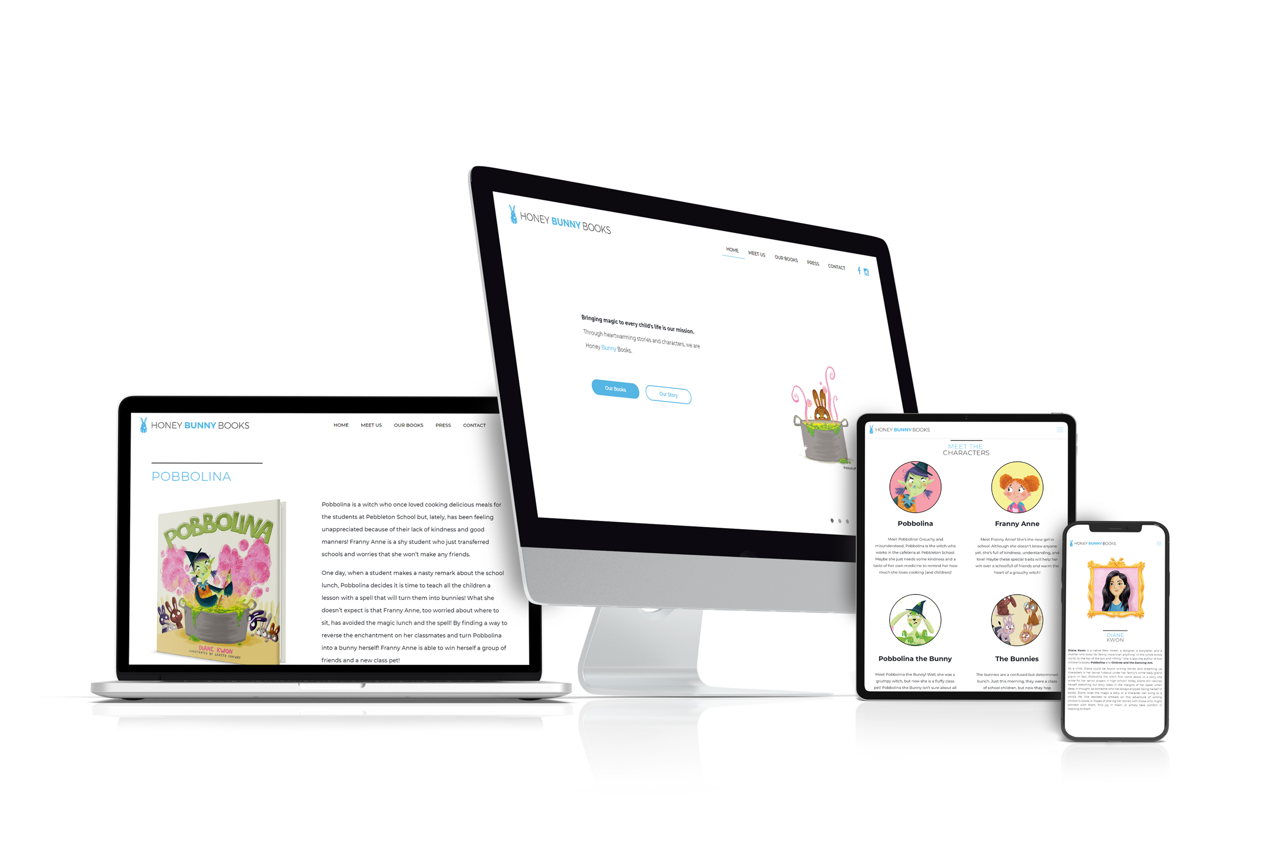 Honey Bunny Books Responsive Web Design nyc