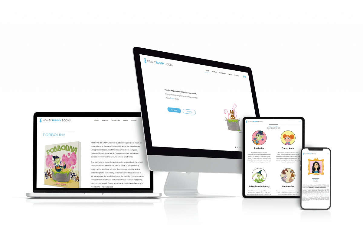 Honey Bunny Books Responsive Web Design nyc